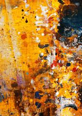 Fototapete - grunge paint on wood background