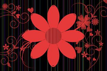 Hintergrund mit Blumenornamenten