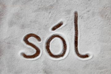 Obraz Sól - fototapety do salonu