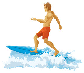 Surfer without gradients. Vector