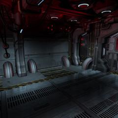 background or composing image inside a futuristic scifi spaceshi