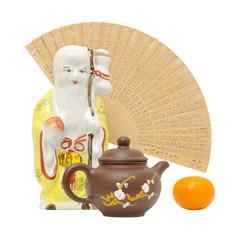 oriental still life.focus on teapot