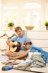 Young guy withguitar