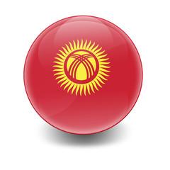 Esfera brillante con bandera Kirguistan