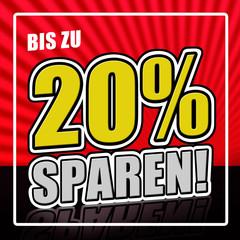 20 Prozent sparen