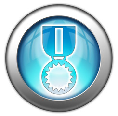 "Glossy 3D effect button ""Award Medal"""