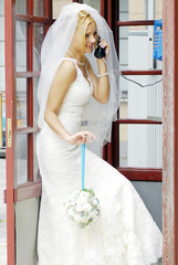 bride calling by phone
