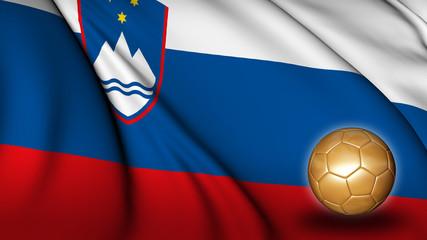 Slovenia soccer flag