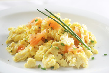 Scrambled Egg with Lox
