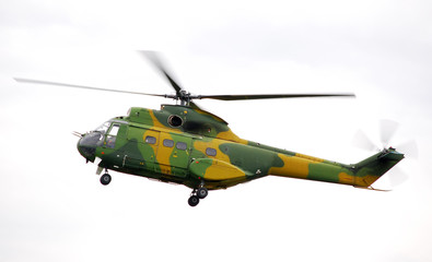 Military helicopter of romanian air forces