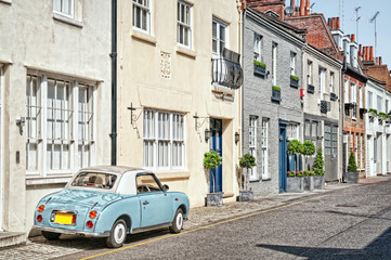 Cosy  mews houses in Chelsea, London,