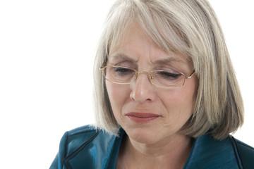 Sad mature woman