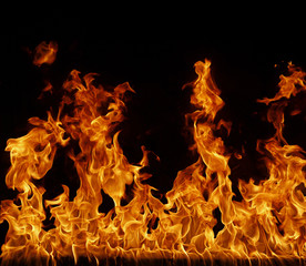 Printed kitchen splashbacks Flame Feuer, Flamme Hintergrund