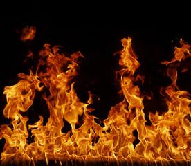 Spoed Fotobehang Vlam Feuer, Flamme Hintergrund