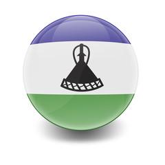 Esfera brillante con bandera Lesoto