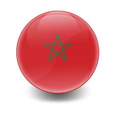 Esfera brillante con bandera Marruecos