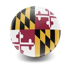 Esfera brillante con bandera Maryland