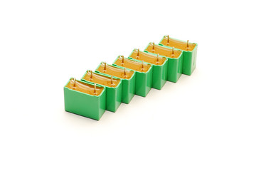 green capacitors isolated