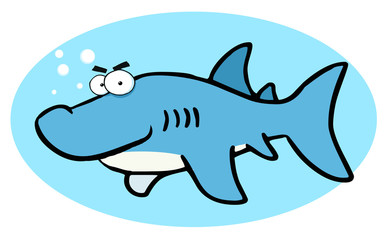 Cartoon Illustrations Of Smiling Shark
