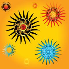 geometric decorative star shape vector