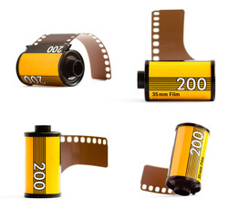 Canisters of 35mm film