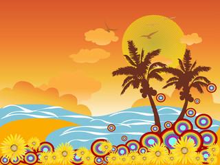 palm tree beach vacation