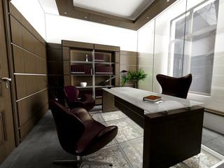 3d render of an office interior