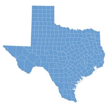 Texas map in vector