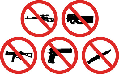 prohibited weapons signs