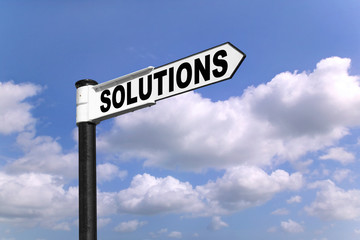 Solutions signpost