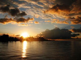 Sunrise and lake