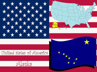 alaska state illustration