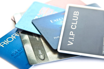 VIP club membership cards