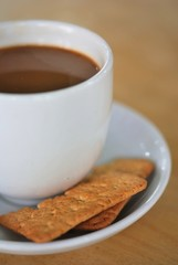 Coffee break with biscuits