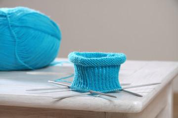 angestrickte Socken