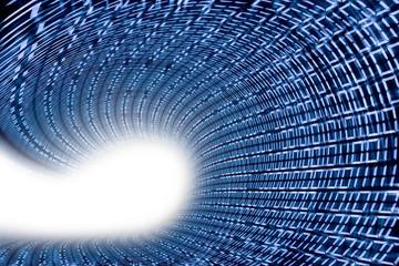 Binärcode als digitale Welle