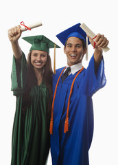 college graduates in cap and gown