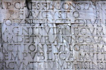 Ancient roman script