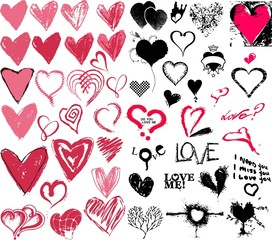 heart in different style