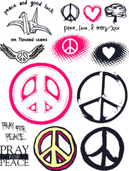 artistic peace sign