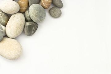 angle border sea stones