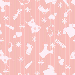 Seamless Girly Background