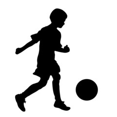 little football  player silhouette