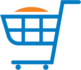 Vector shopping cart illustration