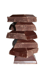 Stacked pieces of chocolate