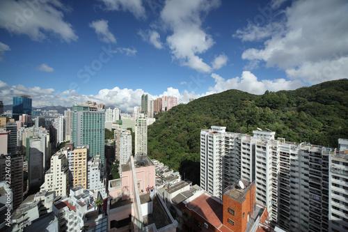 Fotobehang Hong Kong cityscape