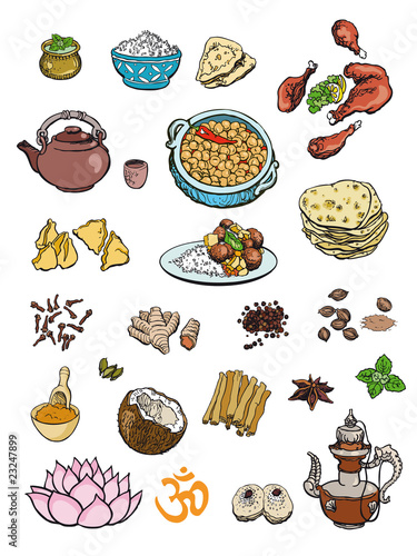 Indian dinner clipart free for Art of indian cuisine