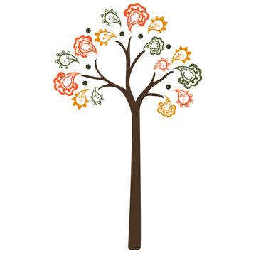 Fall Paisley Tree