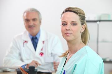 Portrait d'une infirmière