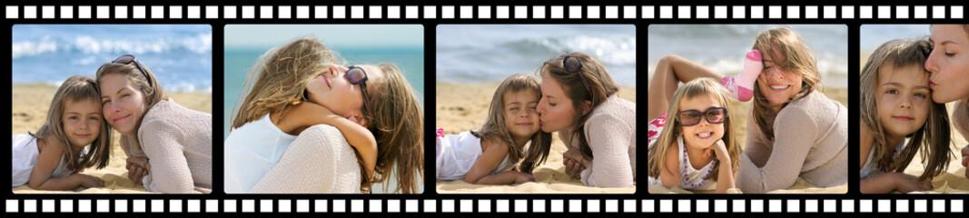 vacances à la plage sur pellicule